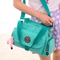 防水尼龙布妈咪包包新款夏季糖果色单肩手提包斜挎女士包