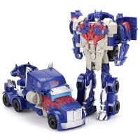 六一礼物 男孩变形玩具金刚擎天大黄蜂警车汽车机器人幼儿童益智力手拼玩具