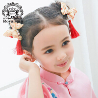 皇家莎莎头饰儿童超仙女童中国风发饰古装配饰流苏女孩可爱侧边发夹