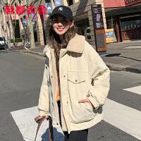 韩都衣舍2019韩版女装冬装新款潮上衣外套百搭短棉衣LZ8773煜