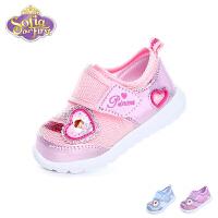 迪士尼Disney童鞋18春夏新款婴幼童宝宝学步鞋婴儿鞋单网透气宝宝鞋小公主童鞋 (0-4岁可选)  DF0470