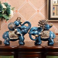 大象摆件风水象客厅茶几酒柜装饰办公室开业乔迁礼品家居摆设