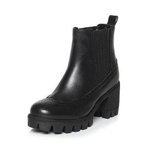 Teenmix/天美意冬季专柜同款牛皮女短靴6E843DD6