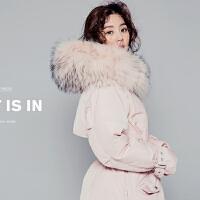 羽绒服女中长款大毛领新款韩版修身加厚宽松大码斗篷型潮