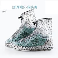 防雨鞋套加厚时尚女雨鞋套防水男防滑加厚底耐磨儿童雨天高筒