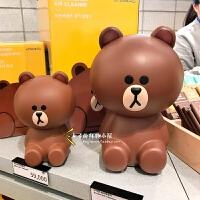 古宾 韩国采购Line Friends布朗熊迷你空气净化器车用便携除味车载 mini净化器--现货