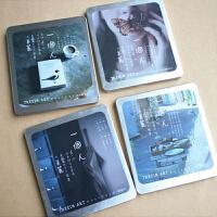 步履不停 一个人 方铁铁盒装明信片旅行小卡片卡片套装