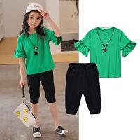 女童短袖套装夏装新款中大童儿童运动两件套洋气夏季韩版潮衣