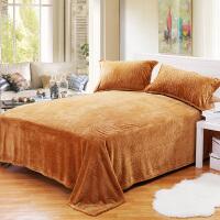 法兰绒床单毛毯珊瑚绒毯子冬季加绒加厚保暖单人双人毛绒床单单件