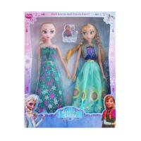Frozen冰雪奇缘娃娃玩具公主洋娃娃芭芘礼盒艾莎安娜套装礼物单个