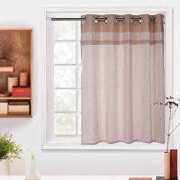 窗帘成品 卧室书房小窗户布艺遮光小窗帘免打孔窗帘门帘支持定制