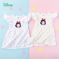 【3件3折到手价:45】迪士尼Disney童装 女童夏日清新连衣裙新品公主印花小飞袖裙子纯棉