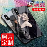 苹果x手机壳定制iphone7plus私人diy照片8p情侣6splus钢化玻璃壳自定义任意机型6s定做女八个性创意i7
