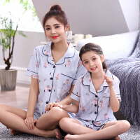 儿童睡衣女童夏季短袖薄款 女童睡衣套装 亲子睡衣母女家居服