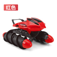 水路两栖车超大水陆两栖遥控船可充电动沙滩摇控车男女小孩儿童遥控玩具礼物A 红色 限量赠35元