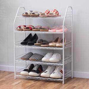 【领券】ORZ 白色五层拆装收纳架鞋架 客厅多功能置物架大容量拖鞋收纳层架