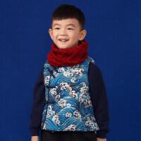 儿童唐装秋冬款中式马甲周岁礼服马夹男童过年喜庆宝宝中国风童装