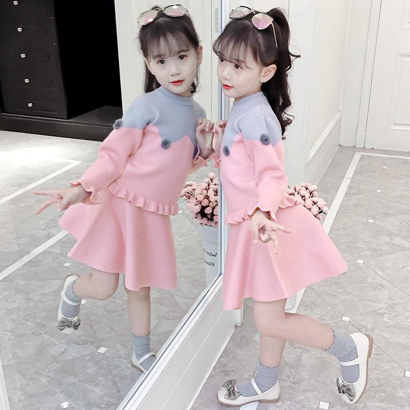 女童毛衣裙子套装2018新款秋冬装小女孩连衣裙两件套儿童洋气套裙 发货周期:一般在付款后2-90天左右发货,具体发货时间请以与客服协商的时间为准