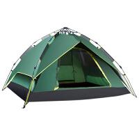 户外双人双层露营帐篷全自动帐篷3-4人野外家庭野营