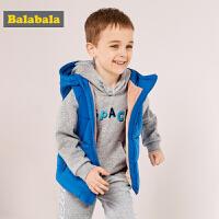巴拉巴拉童装儿童马甲男童小童宝宝秋冬新款加厚保暖背心加绒