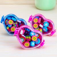 韩版创意儿童学生 橡皮擦 可爱 彩色造型 橡皮卡通橡皮擦儿童礼物便当饭盒造型橡皮1小盒