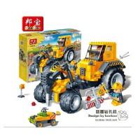 小颗粒 邦宝拼装积木益智教育儿童玩具工程系列路面钻孔机8537