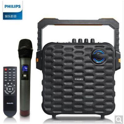 飞利浦(PHILIPS)SD60/93 音响 音箱 户外音响 广场舞大功率音响 迷你音响 便携式手提音响 蓝牙 USB 无线麦克风