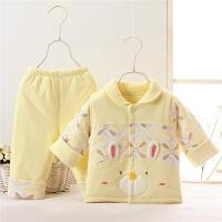 婴儿春秋薄棉衣夹薄棉纯棉春季马甲套装女宝宝0-3月1月6月1岁衣服4478 66cm(66cm 1-4个月版型宽松)