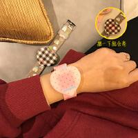 日系原宿风糖果可爱卡通撞色手表少女硅胶触屏爱心软妹电子表腕表