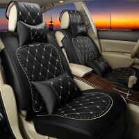 四季通用汽车座套卡通女时尚皮革专用坐垫全包座椅个性春夏季座垫SN7866