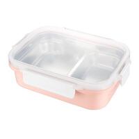 保温饭盒 创意不锈钢长方形注水耐用加热男女学生儿童便当盒分格密封卡扣餐盒厨房用品
