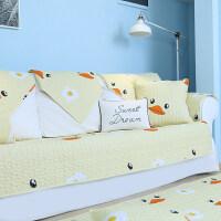 四季通用全棉沙发垫布艺客厅现代简约防滑坐垫子全包罩巾盖套