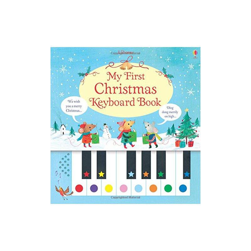 英文原版 宝宝钢琴键盘书 My First Christmas Keyboard Book 圣诞歌曲谱 儿童启蒙 钢琴发声书 进口原版