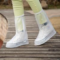 高筒防水防雨鞋套男女 防滑加厚耐磨雨鞋套 下雨天学生雨鞋套