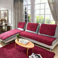 乐唯仕加厚羊羔绒长毛绒沙发垫强防滑实木坐垫欧式沙发巾沙发垫罩全盖沙发套