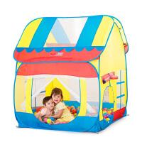 儿童帐篷游戏屋 小孩室内公主房子宝宝爬行隧道海洋球玩具屋 +隧道球池+小狗滑梯含底座