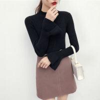 半高领毛衣女韩版打底衫冬季新款加厚长袖套头上衣针织衫yly