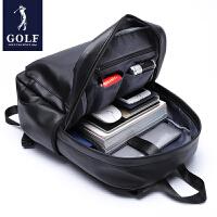 GOLF/高尔夫男士双肩包学生皮质书包韩版休闲旅行背包时尚潮流