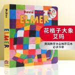 华研原版 英文原版 Elmer 花格子大象艾玛 吴敏兰绘本123 纸板书 英文版 正版现货进口英语书籍