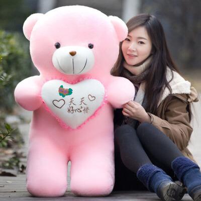 泰迪熊公仔抱抱熊布娃娃玩偶毛绒玩具熊抱枕送女友爱人生日礼物