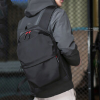 潮牌大容量休闲旅行电脑包双肩包男士背包时尚潮流高中大学生书包