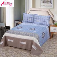 床单三件套1.5m床双人1.8m2.0m米单人大学生宿舍1.2床单单件枕套
