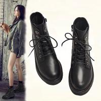 马丁靴女英伦风2018新款短靴百搭内增高ins短筒女靴秋冬加绒靴子