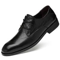 男鞋套脚正装皮鞋商务休闲鞋男士真皮低帮搭扣结婚鞋尖头