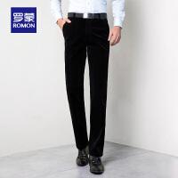 Romon/罗蒙休闲裤男中青年秋冬新款男裤大码灯芯绒西装裤休闲长裤