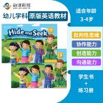 Hide and Seek 1B级别学生用书+练习册 英语原版进口幼儿英语教材美国国家地理幼儿英语教材