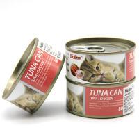 猫罐头 4罐装 金枪鱼纯白肉 鸡肉牛肉虾 猫湿粮 宠物营养 猫咪零食