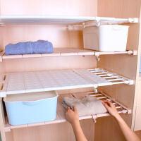 【支持礼品卡】衣柜收纳分层隔板 柜子层架宿舍隔层架橱柜衣橱分隔板 伸缩置物架 jy1
