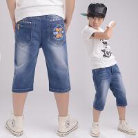 男童短裤儿童牛仔中裤夏装童裤童装裤子夏季潮男孩