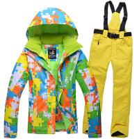 滑雪服男女套装加厚冬季保暖防风防水户外单双板滑雪衣裤情侣